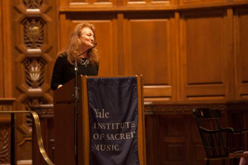Krista Tippett in Battell Chapel