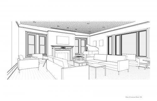 Apicella + Bunton rendering of new Common Room