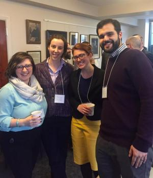 Marissa Glynias (Yale doctoral student in ethnomusicology), Martha Brundage, Emilie Coakley, and Adam Perez (M.A.R. '16)