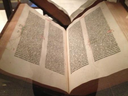 Book with historic biblical text