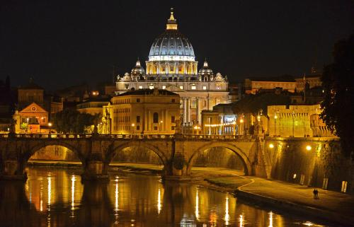 View of Rome in the evening