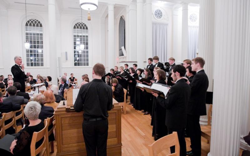 choral event in Marquand Chapel