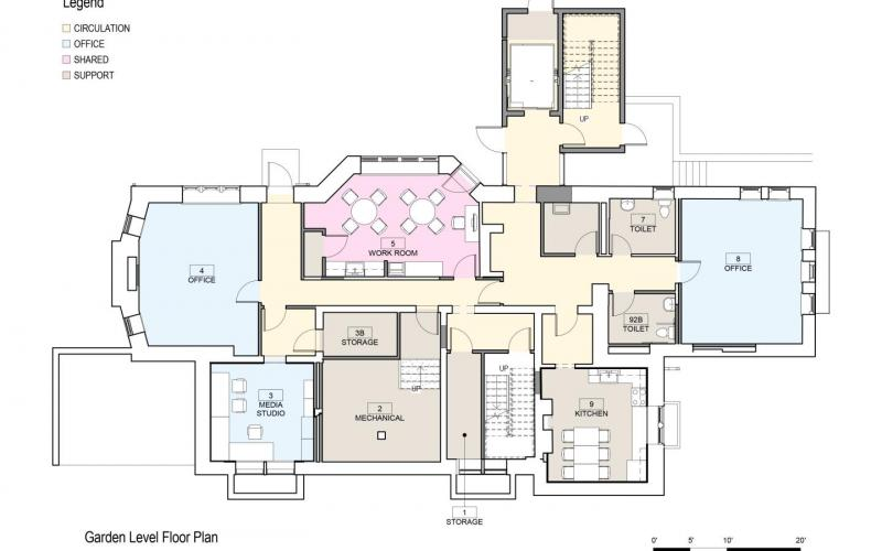 Floor Plan 406 Prospect Garden Level