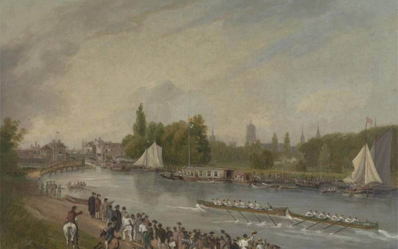 John Whessell, <i>A Boat Race on the River Isis, Oxford,</i> Yale Center for British Art