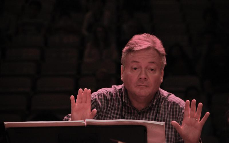 David Hill conducting