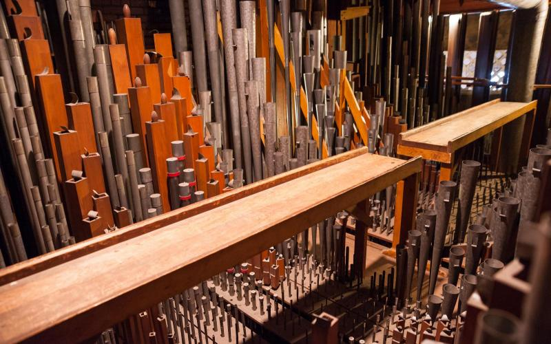 Woolsey organ overall swell view