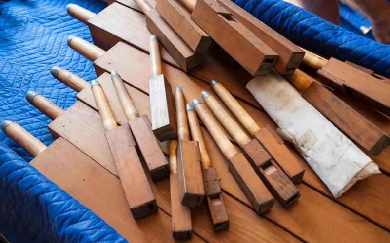 Woolsey organ pipes packed to ship