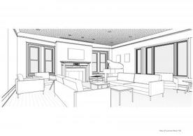 Apicella + Bunton rendering of new Common Room