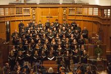 Camerata singing in Battell Chapel