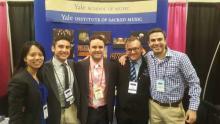 Alumni Adrianna Tam, Nate Widelitz, Joe Gregorio, Max Holman with Derek Greten-Harrison