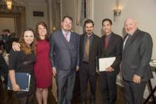 ISM prizewinners Abbie Storch, Kathleen Kilcup, Simon Lee, David McNeil, and Josiah Hamill with director Martin Jean