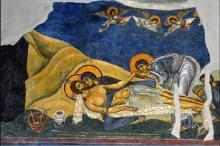Threnos (Lamentation), 1164, fresco in the Church of St. Panteleimon, Nerezi, former Yugoslav Republic of Macedonia. Photo © 2012 by Philip Truax (M.Div. '13). Licensed for academic use only.