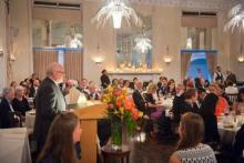 Martin Jean delivers his remarks to the Class of 2015 and their guests